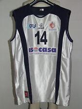 Shirt Maillot Tank Top Basketball Match Worn Cosenza n °14