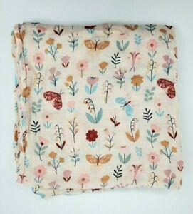 Angel Dear BUTTERFLY GARDEN Muslin Baby Blanket Girl Multicolored Swaddle B350