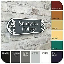 Personalised House Address Name Plaque Door Number Sign Decorative Glass Effect