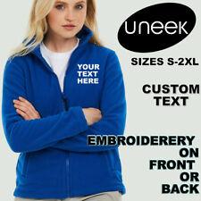 Custom Text Embroidery Uneek Ladies Classic Full Zip Fleece Jacket UC608