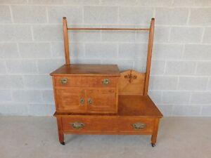 Antique Victorian Birdseye Maple Wash Stand