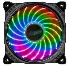 Akasa Vegas X7 120mm 1200rpm RGB Colour LED Ultra Quiet PC Case Fan - AK-FN093