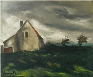 Maurice of Vlaminck: Home IN the Plain - Lithography Signed 1958, Mourlot