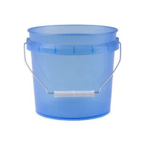 Leaktite Translucent Blue 1 Gallon Pail with White Lid