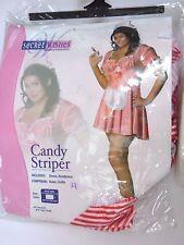 Plus Size 14-16 Women's Candy Striper Nurse Costume Halloween Sexy Costume