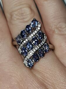 Tanzanite And Natural Cambodian Zircon Ring