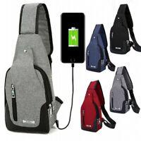 Mens Anti-theft Crossbody Shoulder Chest Sling Bag Travel Backpack Messenger Bag