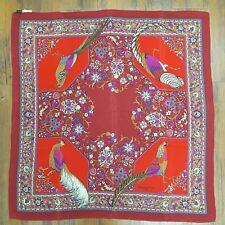 Vintage Bianchini Ferier Silk Bird Print Silk scarf