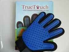True Touch Five Finger Deshedding Glove,Grooming Glove for Cats, Kittens or Dogs