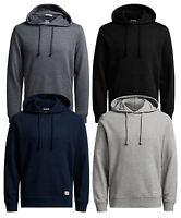 JACK & JONES Originals Mens Overhead Hoodie Plain Hooded Cotton Sweatshirt Top