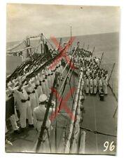KREUZER EMDEN - orig. Foto, Gedächtnisfeier S.M.S. Emden, Kokosinseln, März 1927