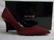 Boutique 9 Size 7.5 M Mirabelle Wine Suede Pumps New Womens Shoes
