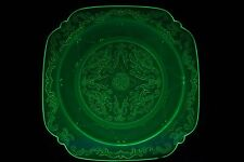 Art Deco Uranium Glass 'Madrid' Plate by Federal Glass Co