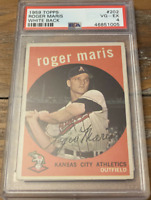 1959 TOPPS #202 ROGER MARIS PSA 4 - WHITE BACK