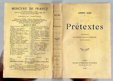 EDITION ORIGINALE ANDRE GIDE PRETEXTES 1903 LITTERATURE FRANCAISE