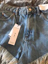 Topshop High Waisted Kiri Ladies Shorts Size 8