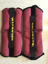 Golds Gym Ankle Weights pair 1.2kg each - red