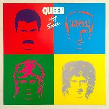 RARE VNTG ICONIC 1982 QUEEN HOT SPACE ELEKTRA RECORDS PROMO COLLECTOR'S POSTER