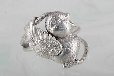 STERLING SILVER AC W.I MADE IN JAMAICA BIRD RING 925 FINE 7862