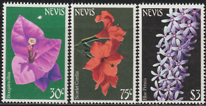 (RX99)MINT STAMPS 3V NEVIS FLOWERS FACE VALUE RM 6.20