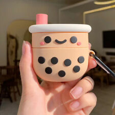 3D Milk Tea Pattern Silicone Case Cover for Apple Airpods Pro Holder #mil nhg