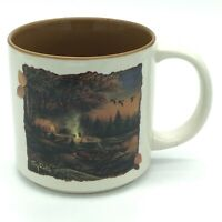 Evening Solitude Coffee Cup Mug Terry Redlin Painting Tent Lake Wild Wings 2011