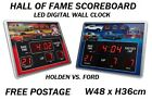 New HOLDEN VS FORD Hall Of Fame Scoreboard LED Wall Digital Clock RRP $150