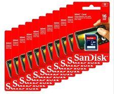 Wholesale lot SanDisk 16GB SD HC Flash Memory Card - 10 Pack for Digital Cameras