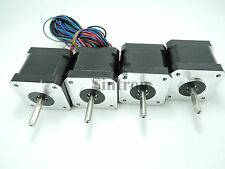 NEW! 4pcs NEMA 17 1.8° 2.6 kg.cm flat shaft Stepper Motor for 3D Printer RepRap