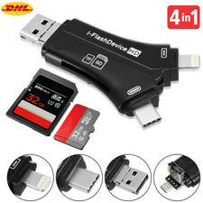 4 in 1 Typ C Micro USB Mac Kartenleser Micro SD & TF Card Reader für IOS Android