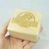 Wooden Sankyo wind up Jurassic Park music box gift box,Christmas new year gift