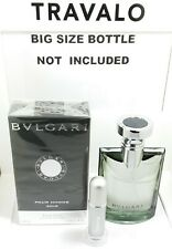 TRAVEL ATOMIZER 5ML (65 SPRAYS) FILLED WITH BVLGARI POUR HOMME SOIR MEN COLOGNE