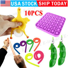 Fidget Sensory Toys Set 10 Pack For Stress Relief Anti-Anxiety Stocking Stuffer