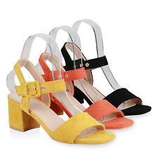 Damen Klassische Sandaletten Schnallen Blockabsatz Riemchen-Schuhe 834695 Schuhe