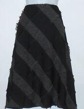 Sojo Petite Diamond Pattern Textured Lined A-Line Skirt Black 16P MSRP $62.00