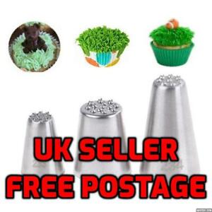 Stainless Steel Grass Cake Decorating Tip Piping Pastry Icing Nozzles UK Free PP