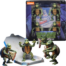Neca TMNT 1990 Movie 1/4 Action Figures Baby Ninja Turtles Bonus4 Michaelangelo