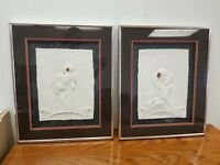 2 Framed Original Limited Edition Signed/Numbered Cast Sculpted Paper Relief Art