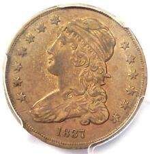 1837 Capped Bust Quarter 25C - PCGS AU Details - Rare Early Date Coin in AU!