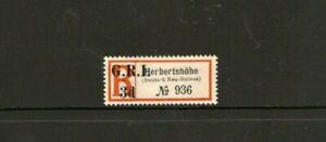 German New Guinea Herbertshohe G.R.I. Postal Label