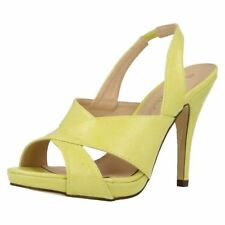 Peep Toes Stiletto Standard (D) Textured Heels for Women