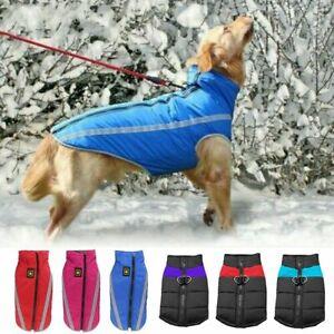 Warm Winter Dog Coat Clothes Waterproof Dog Padded Fleece Pet Vest Jacket 9 Size