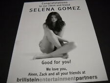 SELENA GOMEZ Good For You! - We Love You 2015 PROMO POSTER AD mint condition