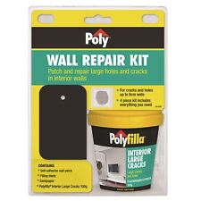 Poly Wall Repair Kit - Self-adhesive Wall Patch, Filling Blade, Sandpaper