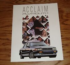 Original 1991 Plymouth Acclaim Sales Brochure 91