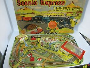 MARX SCENIC EXPRESS TIN LITHOGRAPHED WINDUP TRAIN SET