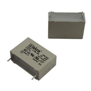 10x MKP Foil Capacitor Radial 0,68µF 275V AC Iskra 680nF