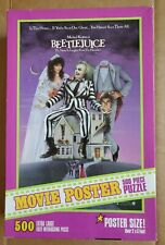 100% COMPLETE 500PC BEETLEJUICE MOVIE POSTER PUZZLE 2X3 FEET