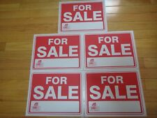 "5X- Red & White Flexible Plastic ""FOR SALE"" Sign 9 x 12 Inch US Seller"