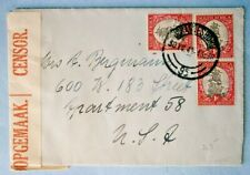 1943 Censored Air Mail Cover from South Africa to New York City